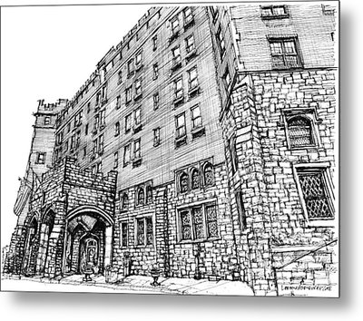 Thayer Hotel In Upstate Ny Metal Print by Building  Art