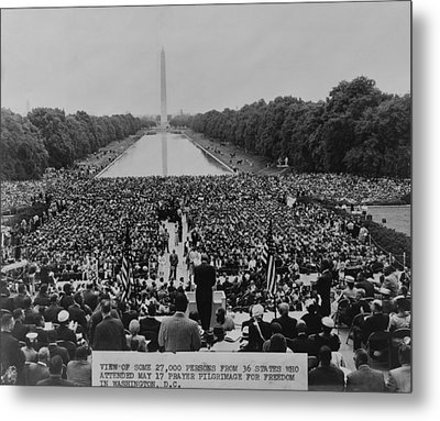 The 1957 Civil Rights Demonstration Metal Print by Everett