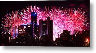 The 54th Annual Target Fireworks In Detroit Michigan Metal Print by Gordon Dean II