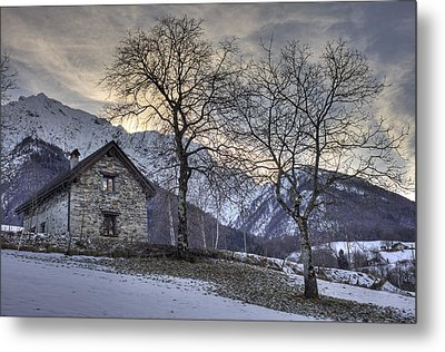 The Alps In Winter Metal Print by Joana Kruse