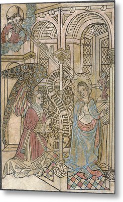 The Annunciation, Depicting Metal Print by Everett