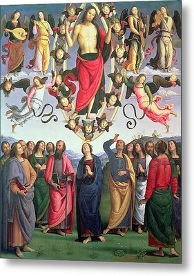 The Ascension Of Christ Metal Print by Pietro Perugino
