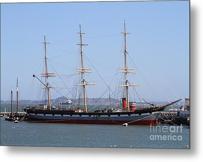 The Balclutha . A 1886 Square Rigged Cargo Ship At The Hyde Street Pier In Sf California . 7d14069 Metal Print by Wingsdomain Art and Photography