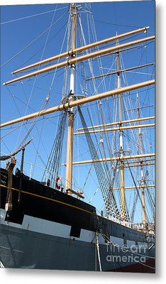 The Balclutha . A 1886 Square Rigged Cargo Ship At The Hyde Street Pier In Sf California . 7d14135 Metal Print by Wingsdomain Art and Photography