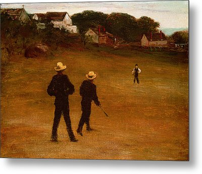 The Ball Players Metal Print by William Morris Hunt