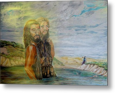 The Baptism Of Yeshua Messiah Metal Print by Anastasia Savage Ealy