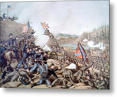The Battle Of Franklin, November 30 Metal Print by Everett