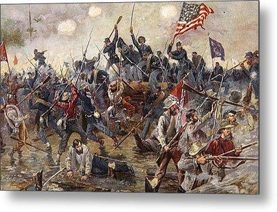 The Battle Of Spotsylvania Metal Print by Henry Alexander Ogden