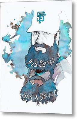 The Beard Metal Print by Michael  Pattison