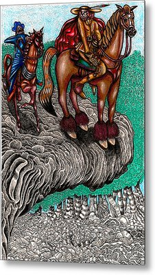The Beast And Nahamanides In Shitaki Forest Metal Print by Al Goldfarb