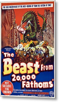 The Beast From 20,000 Fathoms Metal Print by Everett