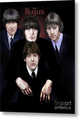 The Beatles Metal Print by Reggie Duffie