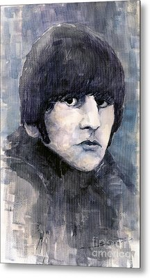 The Beatles Ringo Starr Metal Print by Yuriy  Shevchuk