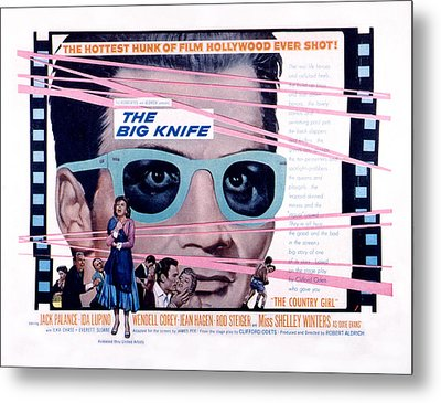 The Big Knife, Jack Palance, Ida Metal Print by Everett