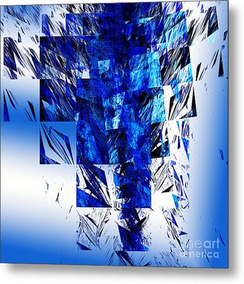 The Blue Chandelier Metal Print by Andee Design