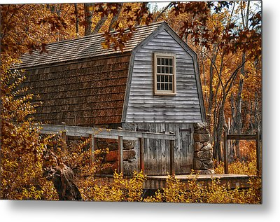 The Boathouse At The Manse Metal Print by Tricia Marchlik