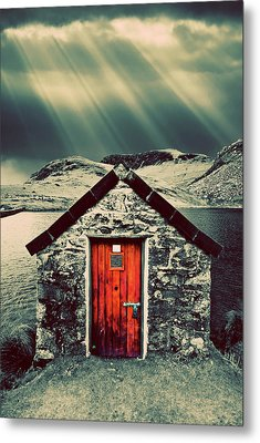 The Boathouse Metal Print by Meirion Matthias