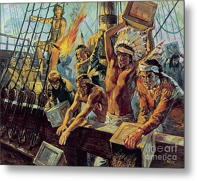 The Boston Tea Party Metal Print by Luis Arcas Brauner