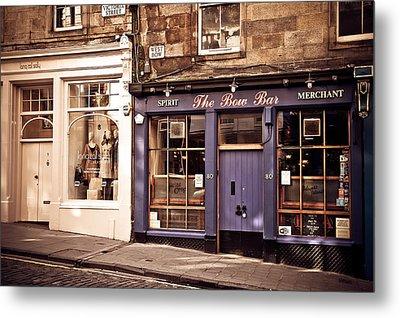 The Bow Bar. Edinburgh. Scotland Metal Print by Jenny Rainbow