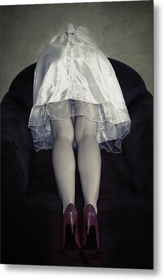 The Bride From Behind Metal Print by Joana Kruse