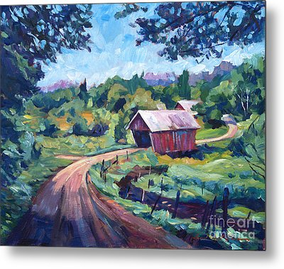 The Bridges Of East Randolph Vermont Metal Print by David Lloyd Glover