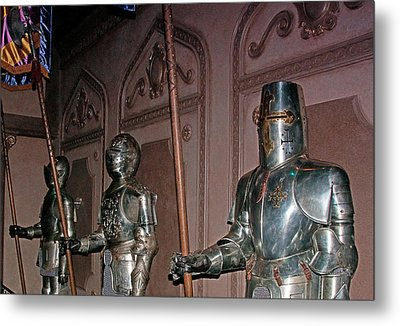 The Castle Guards Metal Print by John Black