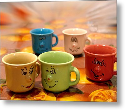The Cheerful Cups Metal Print by Alessandro Della Pietra