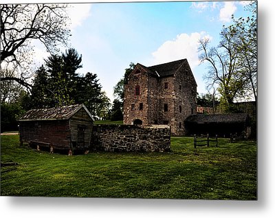 The Chicken Coop And The Barn Metal Print by Bill Cannon