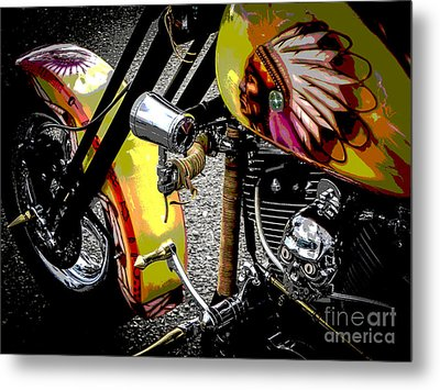 The Chief Rides Metal Print by Chuck Re