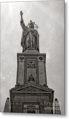 The Christking Monument Metal Print by Angela Doelling AD DESIGN Photo and PhotoArt