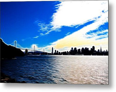 The City By The Bay Metal Print by Wingsdomain Art and Photography