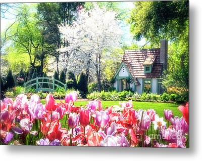The Claude Monet Small House Metal Print by Tamyra Ayles