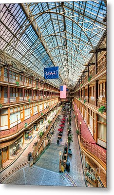 The Cleveland Arcade I Metal Print by Clarence Holmes