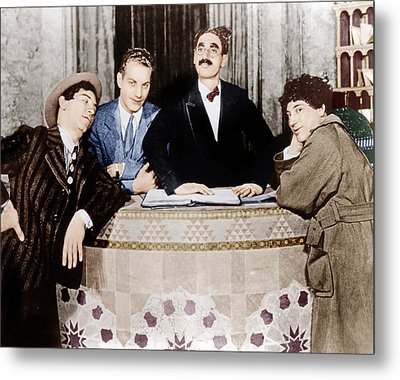 The Cocoanuts, From Left Chico Marx Metal Print by Everett
