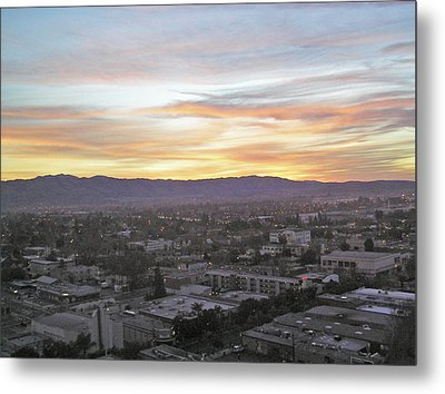 The Colors Of The Sky Over San Jose At Sunset Metal Print by Ashish Agarwal