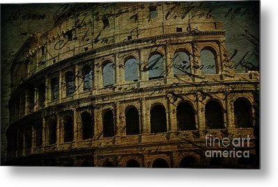 The Colosseum Of Rome Metal Print by Lee Dos Santos