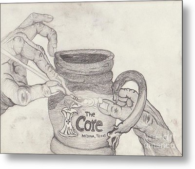 The Core Mug Metal Print by TK Mayfield