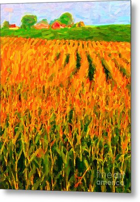 The Cornfield Metal Print by Wingsdomain Art and Photography