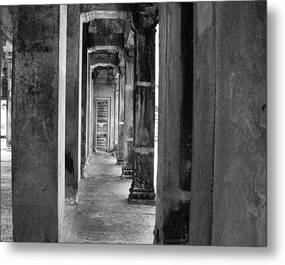 The Corridor Metal Print by Donna Caplinger