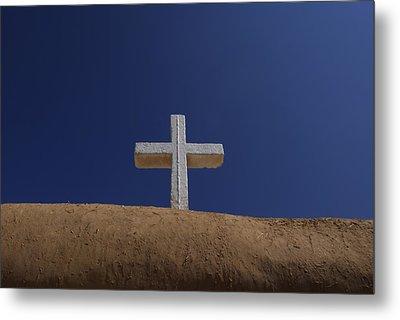 The Cross Above Saint Francis Catholic Metal Print by Raul Touzon
