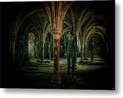 The Crypt Metal Print by Chris Lord