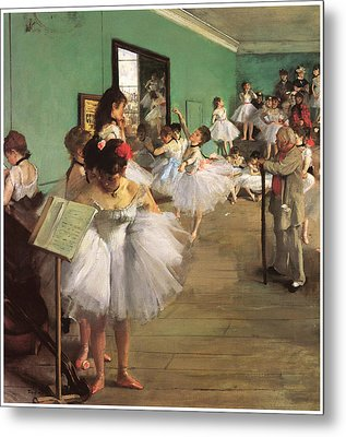 The Dance Class Metal Print by Edgar Degas
