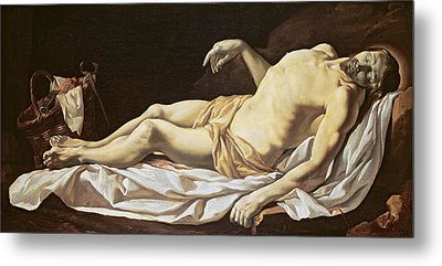 The Dead Christ Metal Print by Charles Le Brun