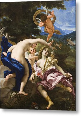 The Death Of Adonis Metal Print by Il Baciccio