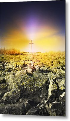 The Death Spot Of St. Cuthbert On Holy Metal Print by John Short