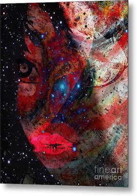 The Difference Between Myself And Me Metal Print by Fania Simon