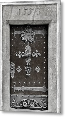 The Door - Ceske Budejovice Metal Print by Christine Till