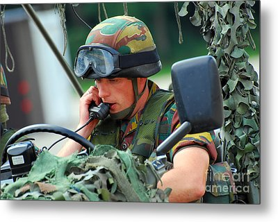 The Driver Of A Mortar Section Metal Print by Luc De Jaeger