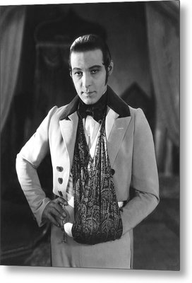 The Eagle, Rudolph Valentino, On-set Metal Print by Everett