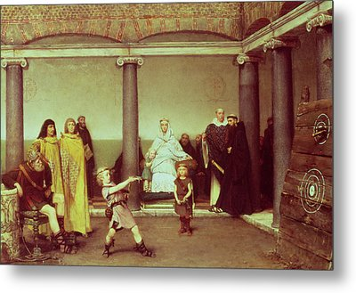 The Education Of The Children Of Clothilde And Clovis Metal Print by Sir Lawrence Alma-Tadema